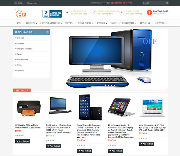 orange tech services website thumb