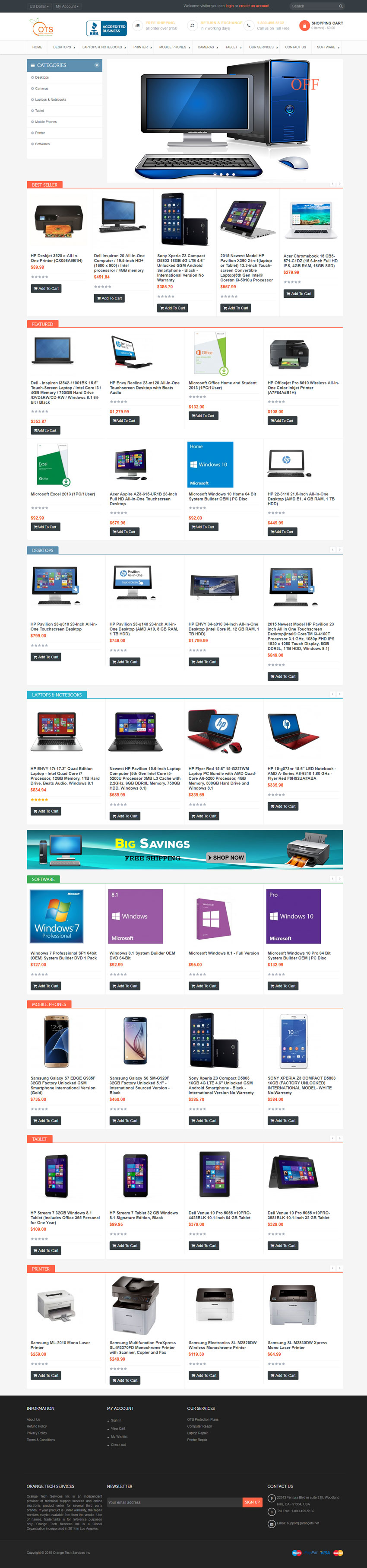 orange tech services website