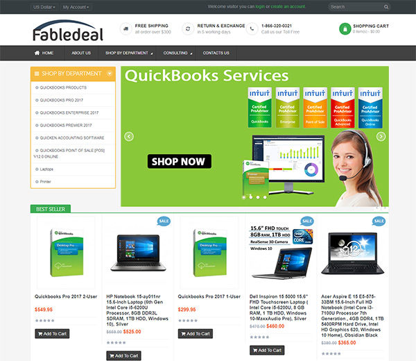 fabledeal inc website thumb