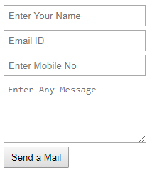 html form for send a mail