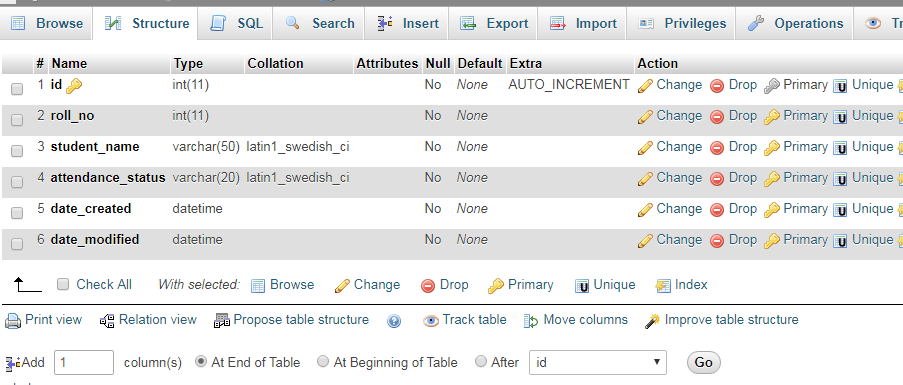 Attendance Management System in PHP and MySQL – WebsApex