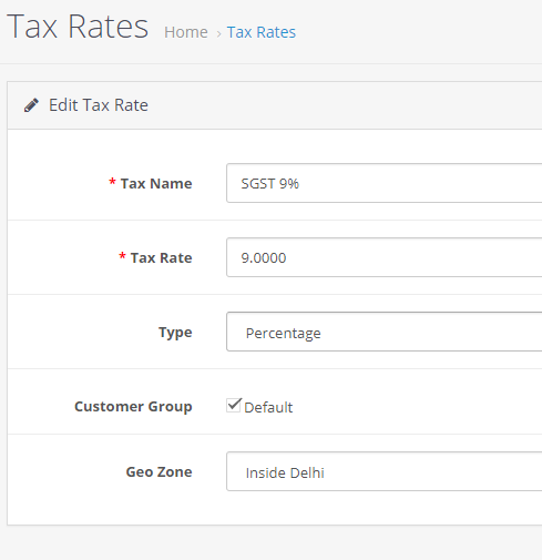 How to Add Indian GST Tax in Opencart – WebsApex